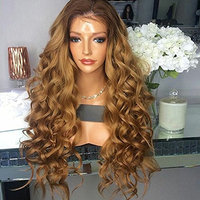 Kerrywigs Grade 10A 200 Density Body Wave Ombre #4/#8 Full Lace Human Hair Wigs For Black Women Glueless Wavy Lace Front Wigs Natural Hairline-30inch full lace wig
