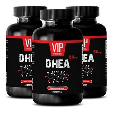 Cholesterol reducer - DHEA 50 mg - Cholesterol support - 3 Bottles 180 Capsules