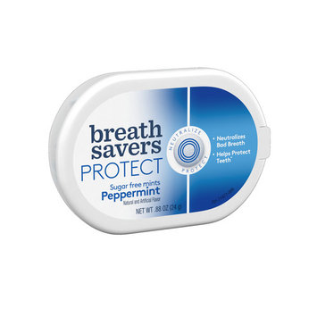 BREATH SAVERS PROTECT Mints in Peppermint Flavor, .88 oz