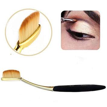 Neverland Beauty 1PCS Toothbrush Powder Lip Eyeshadow Eyebrow Brushes Gold + Black