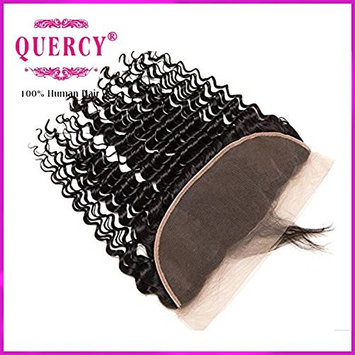 Quercy Hair 13x4 Lace Frontal Closure with Baby Hair Free Part Ear to Ear Curly Wave Indian Virgin Human Hair Frontal Natural Color