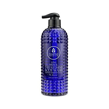 Panrosa Premier 25.4 FL oz 3-in-1 Men's Regiment Daily Body Wash, for Shower, Shampoo and Shave.(The General)