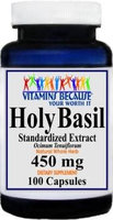 Vitamins Because Holy Basil Standardized Extract 450mg 100 Capsules