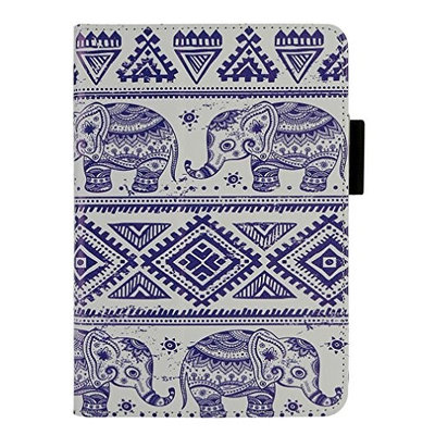 Kindle Fire HD 7, LUNIWEI Painted Leather Stand Cover Case