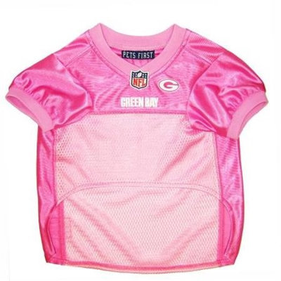 Doggie Nation.com Green Bay Packers Pink Dog Jersey X-Small
