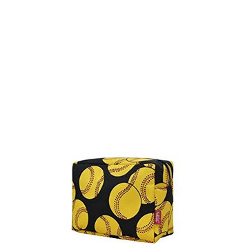 Softball Print NGIL Large Cosmetic Travel Pouch