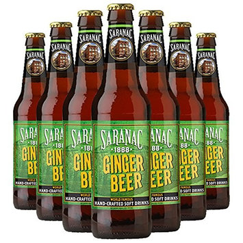 Saranac World Famous Hand-Crafted Ginger Beer Soda Soft Drink, 12 oz Glass Bottles