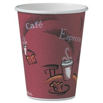 Solo OF12BI-0041 12 oz Bistro SSP Paper Hot Cup (Case of 300)