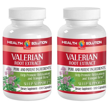 Nerve support supplement - VALERIAN ROOT EXTRACT - Valerian sleeping pills - 2 Bottle 200 Capsules