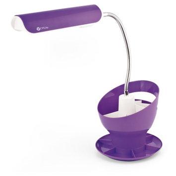 OttLite Craft Space Organizer Desk Lamp Purple