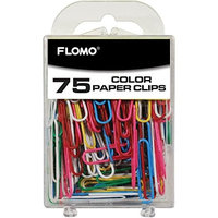 Flomo 75 Count Color 50 Mm Paper Clips(pack Of 48)