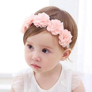 Baby Flower Headband Pink Ribbon Hair Bands Handmade DIY Headwear Hair accessories for Children Newborn Toddler