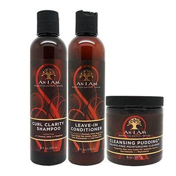 As I Am Curl Clarity Shampoo & Leave-in Conditioner & Twist Defining Cream 8oz