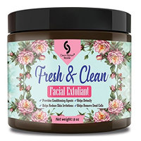8 oz Fresh & Clean Facial Exfoliant - with gentle Jojoba Wax Beads, natural Aloe, and Olive oils intertwine to create an effective yet gentle exfoliant
