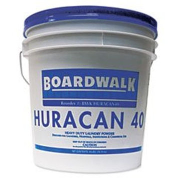 Boardwalk BWKHURACAN40 Low Suds Industrial Powder Laundry Detergent, Fresh Lemon Scent, 40lb Pail