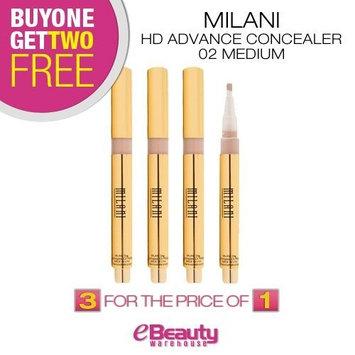 BUY ONE GET TWO FREE! MILANI HD Advance Concealer 0.045oz (MACB10-02 Medium)