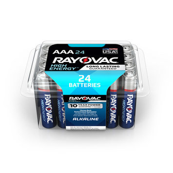 Rayovac High Energy Alkaline, AAA Batteries, 24 Count