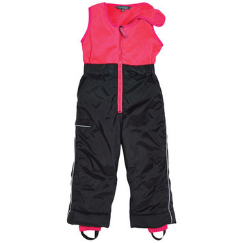 Cozy Cub Baby and Toddler Girl Snow Pants - Waterproof with Grow-With-Me Adjustable Hem - Hot Pink and Black