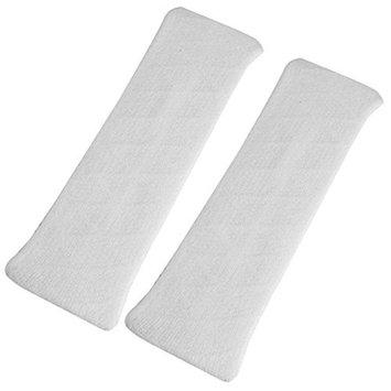 uxcell Elastic Fabric Household Bathing Headband Hair Band 2 Pcs White for Ladies