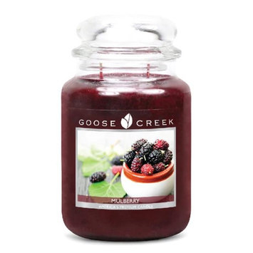 Goose Creek 26-Ounce Mulberry Essential Jar Candle with Glass Lid