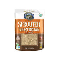 Lundberg Organic Sprouted Short Brown Rice - 16 oz pack of 6