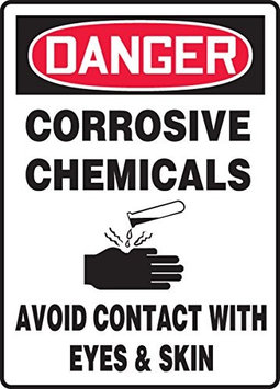 Accu Form CORROSIVE CHEMICALS AVOID CONTACT WITH EYES & SKIN (W/GRAPHIC)