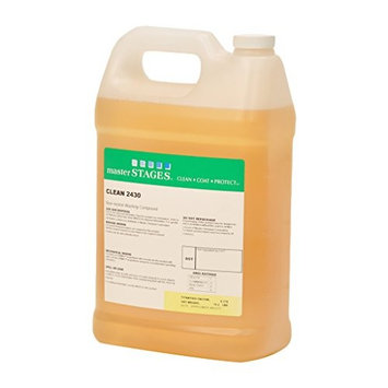 Master STAGES CLEAN2430/1 Clean 2430 Near Neutral Washing Compound, Clear Colorless to Pale Yellow, 1 gal Jug