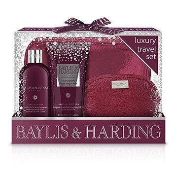 Baylis & Harding Midnight Fig and Pomegranate Luxury Travel Set