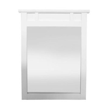 Home Decorators Collection Haven 31 in. L x 25 in. W Framed Wall Mirror in White