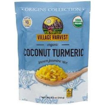 Village Harvest Microwaveable Organic Coconut Turmeric Brown Basmati Rice 8.5 oz (Pack of 6)