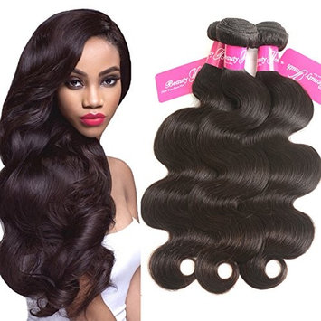 Beauty Youth Hair Brazilian Virgin Hair Body Wave Extensions 3 Bundles 7A Unprocessed Remy Hair Weave Natural Color 95-100g/pc