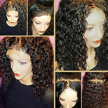 8A 360 Lace Frontal Wig with BaBy Hair Pre-Plucked Natural Hairline Brazilian Virgin Hair 180% Density Curly Hair 360 Lace Wig for Black Women(24inch Free Part)