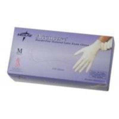 Medline CUR8104 CURAD Powder-Free Textured Latex Exam Gloves, 9.5