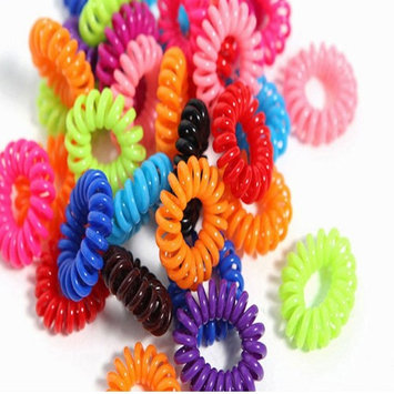 Tonewear Stretchable Coil Rainbow Hair Ties (70 Pack)