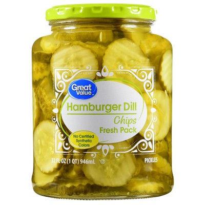 Wal-mart Stores, Inc. Great Value Hamburger Dill Chips, 32 fl oz