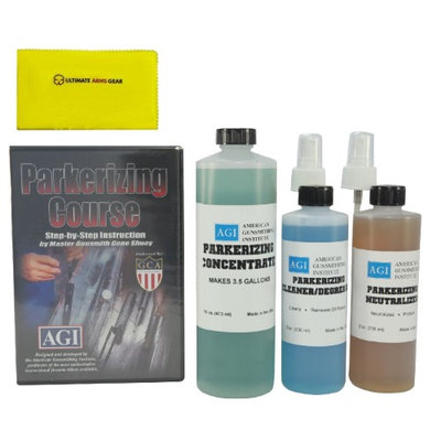 American Gunsmithing Institute Parkerizing Kit with Concentrate, Cleaner/Degreaser, Neutralizer & Step-by-Step DVD + Ultimate Arms Gear Gun Cleaning Cloth
