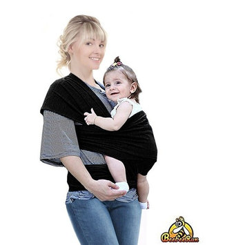 Soft Baby Carrier with Adjustable Breastfeeding Cover- Utterly Comfortable and Safe Baby Wrap Carrier- Ideal Baby Wrap Sling for New Moms by Beebeerun(Black) : Baby