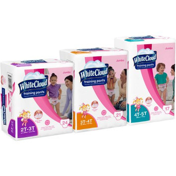Kimberly-clark White Cloud Girls' Training Pants, Jumbo Pack, 4T-5T, 17 ct