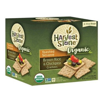 Harvest Stone Organic Crackers, Toasted Sesame and Brown Rice and Chickpea (18 oz.)