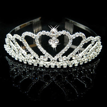 Simplicity Pageant Tiara and Crown Rhinestones Crystal Bridal Wedding, 957