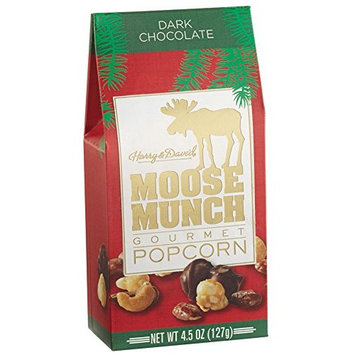 Moose Munch Gourmet Chocolate Popcorn Holiday Special Edition 4.5oz (Dark Chocolate)