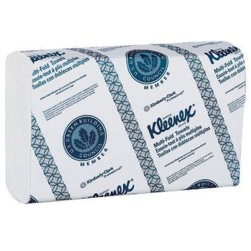 Kleenex 01890 Multi-Fold Paper Towels, 9 1/5 x 9 2/5, White, 150 per Pack (Case of 16 Packs)