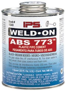 Weld On Ez-Flo 86227 1/2 Pint Abs Cement - Black Medium Body