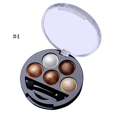 Fashion Five Colors Eye Shadow Glittle Eyeshadow Could Be Used as Highlight