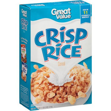 Great Value: Crisp Rice Cereal, 18 oz