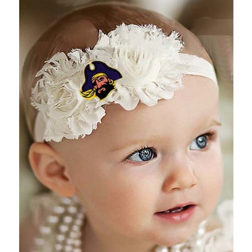 East Carolina Pirates Baby/ Toddler Shabby Flower Hair Bow Headband