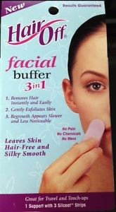 Hair Off Facial Buffer 1.0 kit(pack of 4)