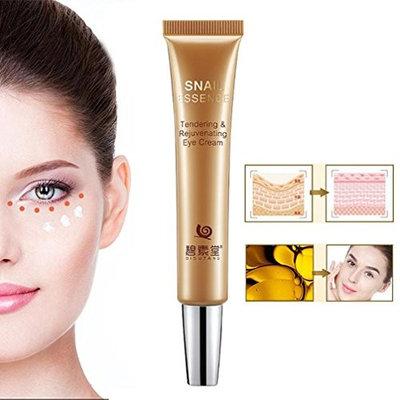 Hunputa Kiss Dark Circles, Eye Bags & Fine Lines Goodbye! Deep Moisturizing Eye Cream Remove Wrinkles Dark Circles Snail Liquid Essence,Fight Bags & Lift Skin Under Eyes