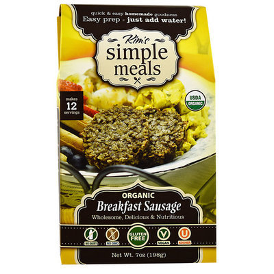 Kim's Simple Meals Organic Breakast Sausage -- 7 oz