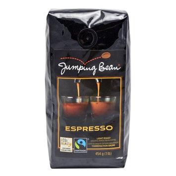 Jumping Bean Light Roast Espresso Fair Trade and Organic Coffee Bean, Whole Bean - 1 lb